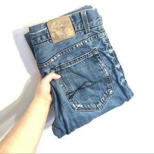 Aeropostale Driggs Slim Bootcut Blue Denim Jeans